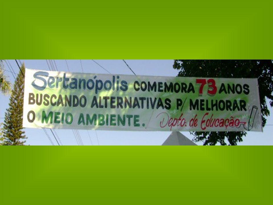 Feira realizada em Sertanópolis faz homenagem ao dia do Meio Ambiente Foram feita duas barracas de conscientização para os alunos, de como o planeta pode ficar, poluído e destruído ou preservado, isso só depende da consciência de cada um