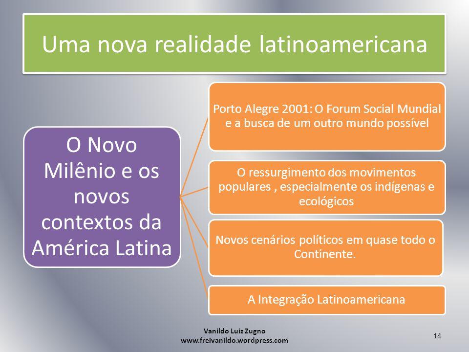 Uma nova realidade latinoamericana O Novo Milênio e os novos contextos da América Latina Porto Alegre 2001: O Forum Social Mundial e a busca de um out