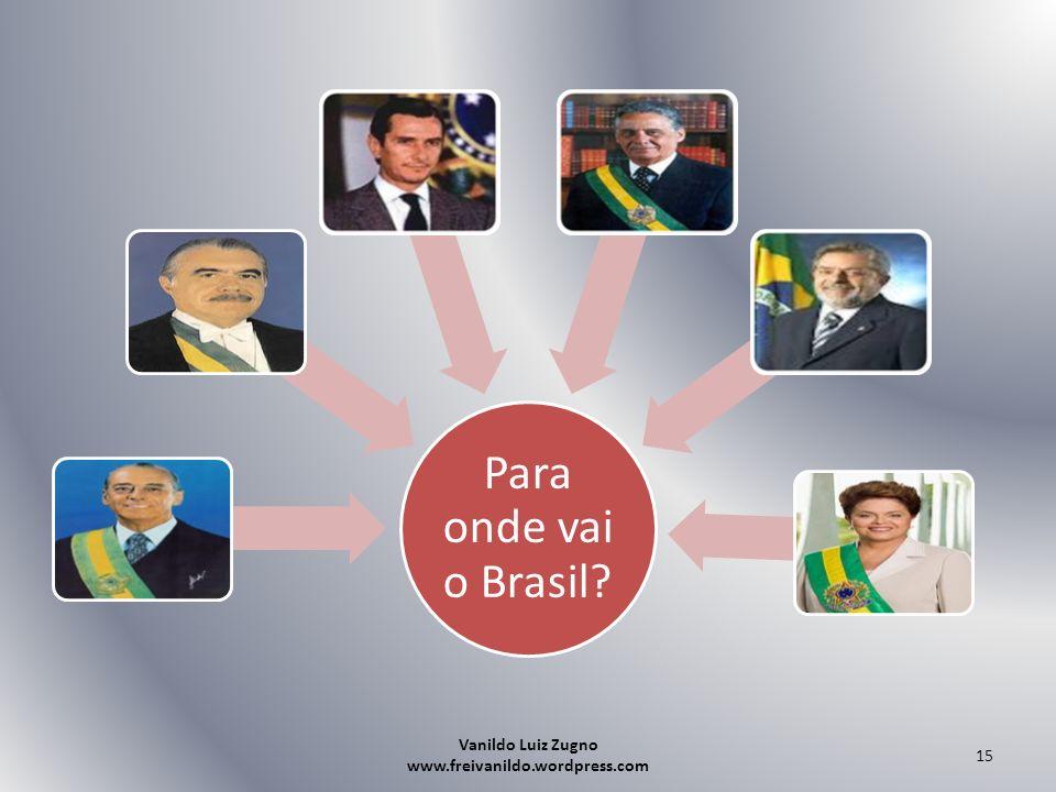 Para onde vai o Brasil? Vanildo Luiz Zugno www.freivanildo.wordpress.com 15