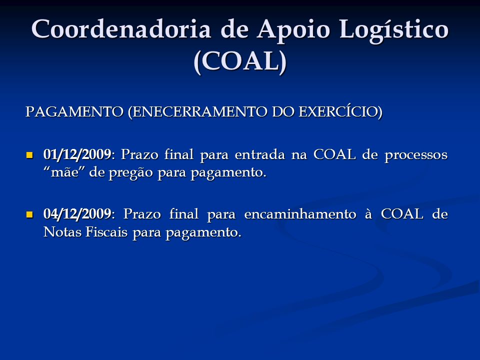 Coordenadoria de Planejamento (COPLAN) 15/12/2009 : Reunião com Nível estratégico SEJUSP sobre a Revisão do PPA 2008-2011 (exercício de 2011).