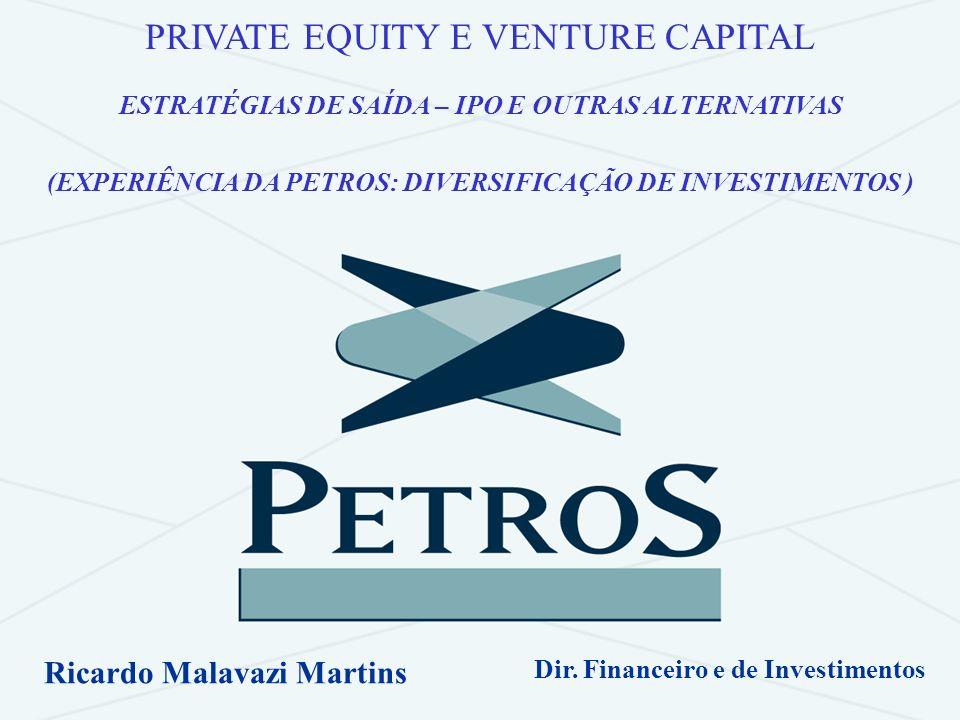 Ricardo Malavazi MartinsBOVESPA/IBRADEMP – São Paulo - 13/12/2006 2 PETROS Private Equity & Venture Capital Expectativas e Experiência de Diversificação.