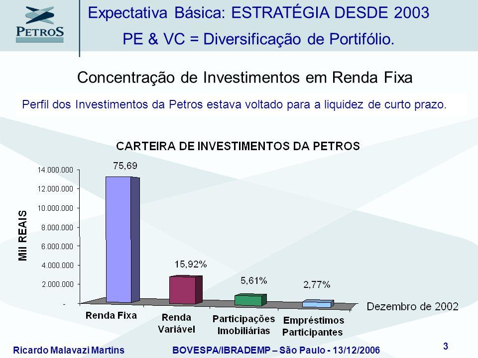 Ricardo Malavazi MartinsBOVESPA/IBRADEMP – São Paulo - 13/12/2006 4 Possível Diversificar Renda Variável (risco) com perspectiva de longo prazo.