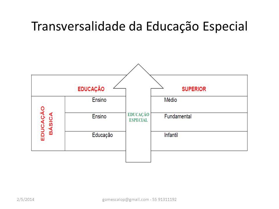 Educação Especial Sendo uma modalidade de ensino não é um sistema substitutivo de ensino.