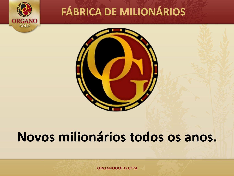 Novos milionários todos os anos. FÁBRICA DE MILIONÁRIOS