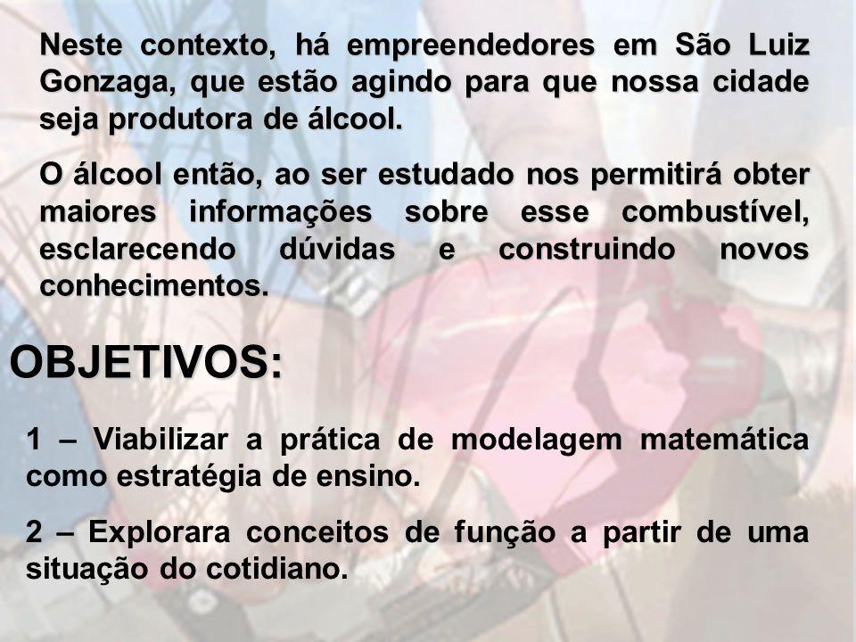 Neste contexto, há empreendedores em São Luiz Gonzaga, que estão agindo para que nossa cidade seja produtora de álcool. O álcool então, ao ser estudad
