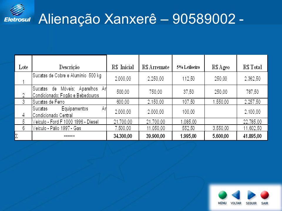 Alienação Xanxerê – 90589002 -