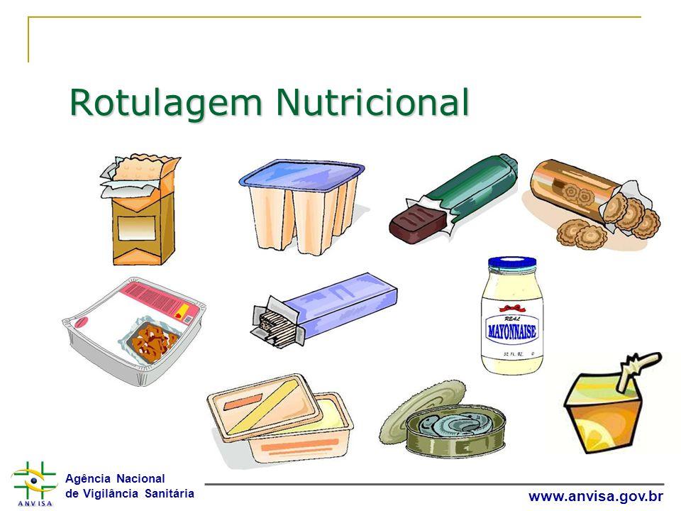 Agência Nacional de Vigilância Sanitária www.anvisa.gov.br Rotulagem Nutricional