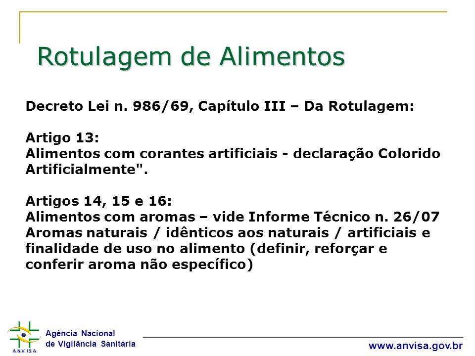 Agência Nacional de Vigilância Sanitária www.anvisa.gov.br Decreto Lei n.