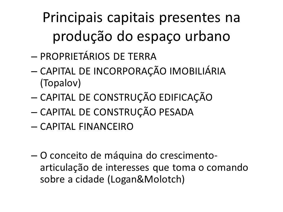 O paradoxo na retomada do crescimento econômico Mais do que nunca a cidade é dominada pelas forças do capital em associação com a grande mídia e fortemente apoiadas no financiamento de campanhas eleitorais.