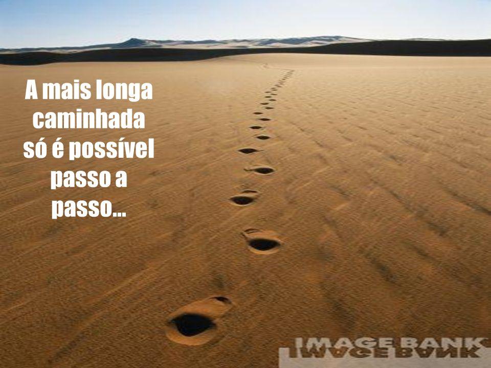 A mais longa caminhada só é possível passo a passo...