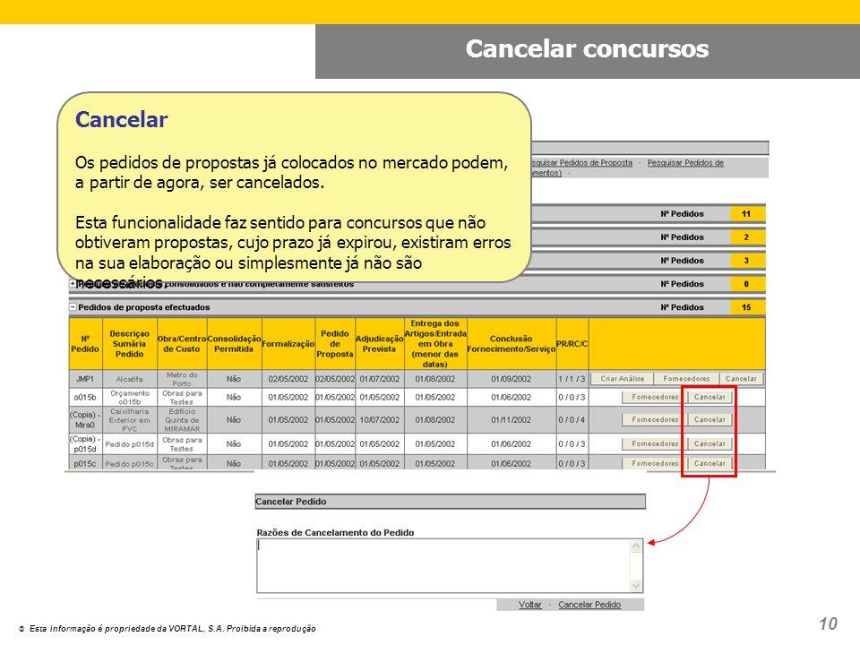 © Esta informação é propriedade da VORTAL, S.A.