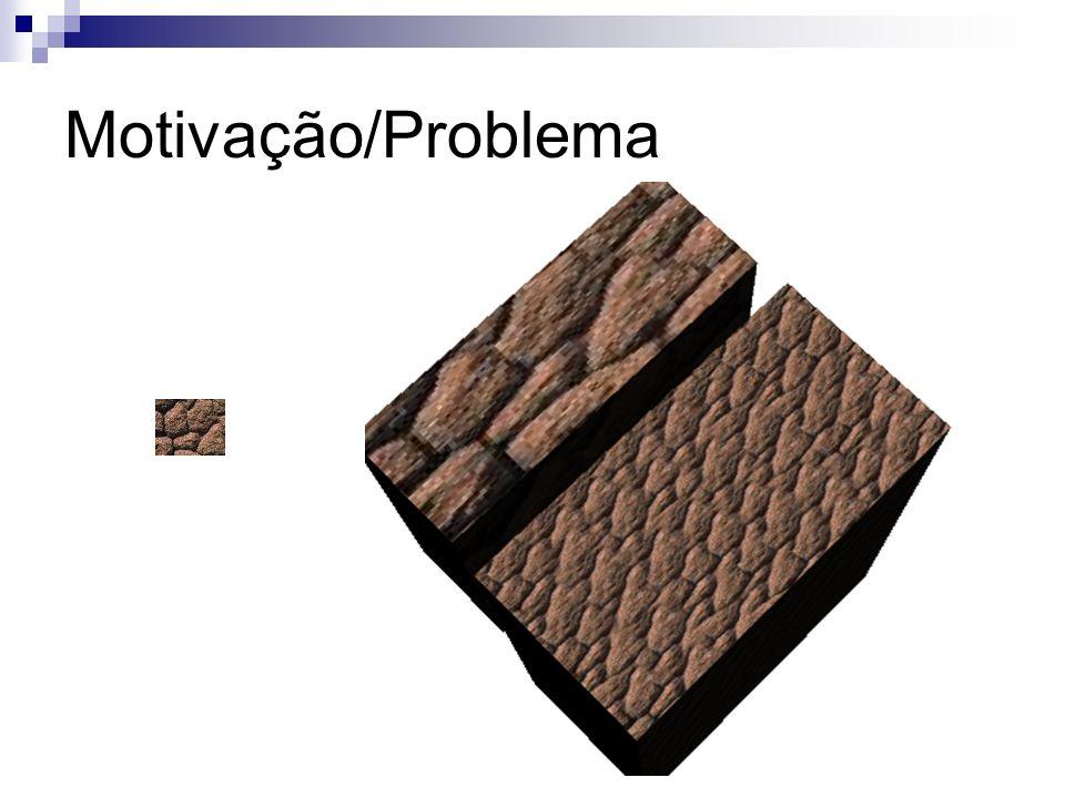 Síntese de Texturas Baseada em Amostras Considerações Blocos de textura vizinhos possuem aparência semelhante