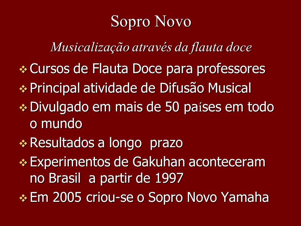 Cursos de Flauta Doce para professores Cursos de Flauta Doce para professores Principal atividade de Difusão Musical Principal atividade de Difusão Mu