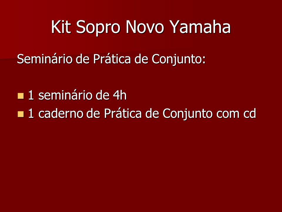 Kit Sopro Novo Yamaha Seminário de Prática de Conjunto: 1 seminário de 4h 1 seminário de 4h 1 caderno de Prática de Conjunto com cd 1 caderno de Práti