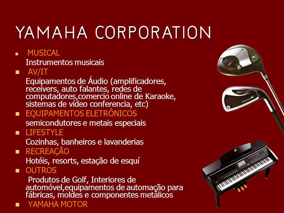 Responsável por 59,2% do faturamento de toda a corporação Presente em mais de 30 países Maior empresa de instrumentos musicais do mundo.