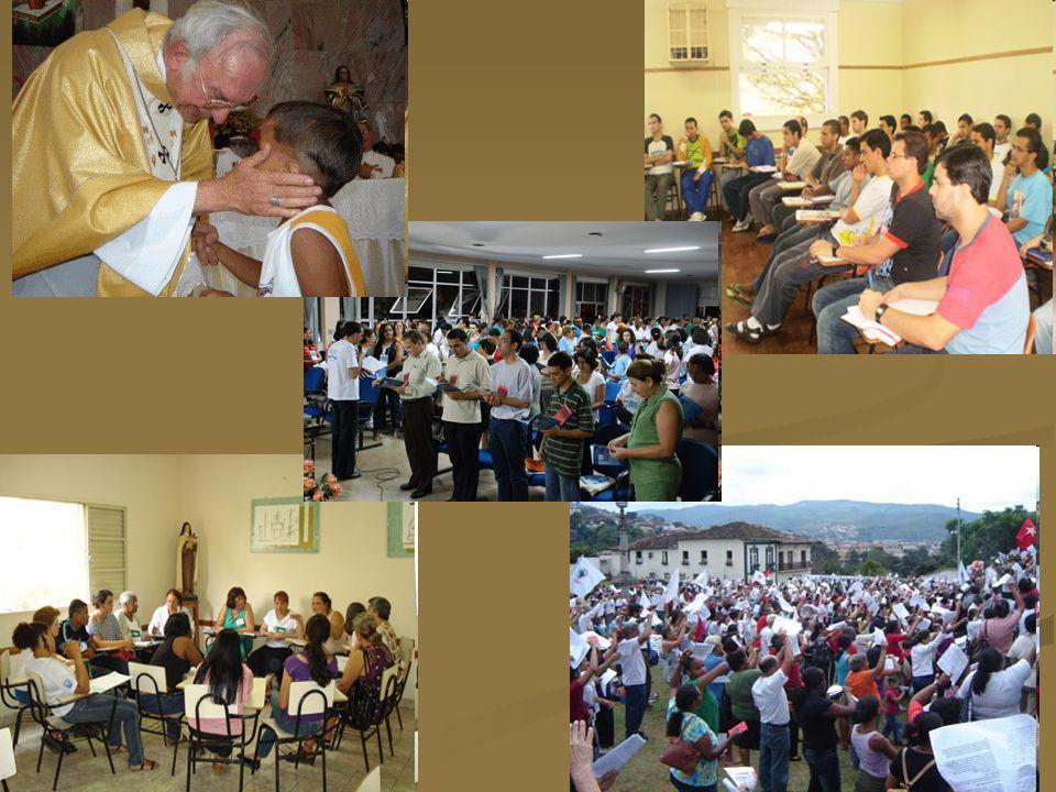 VENHA TRABALHAR NA MINHA VINHA Há muita gente empenhada nos vários serviços que a Igreja particular de Mariana presta às nossas comunidades A seara é grande e os apelos são incontáveis
