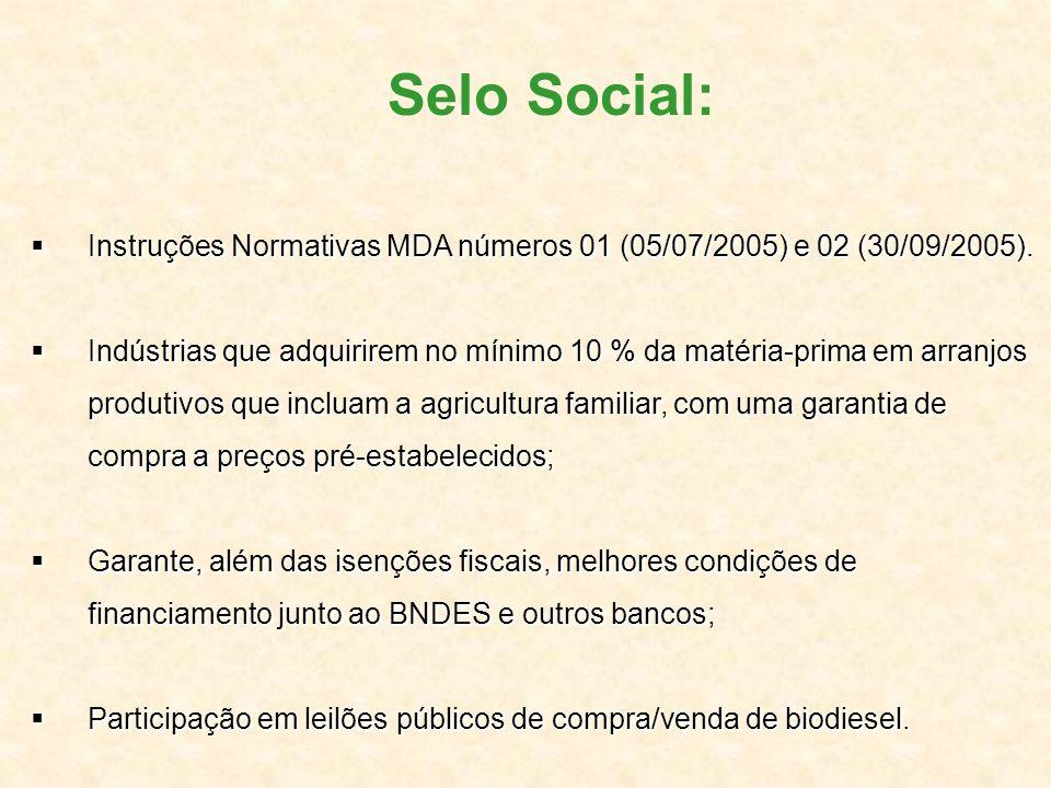 Instruções Normativas MDA números 01 (05/07/2005) e 02 (30/09/2005). Instruções Normativas MDA números 01 (05/07/2005) e 02 (30/09/2005). Indústrias q