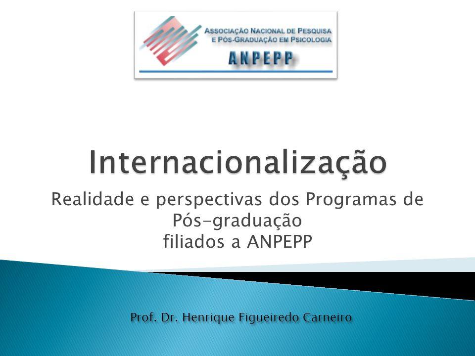 Realidade e perspectivas dos Programas de Pós-graduação filiados a ANPEPP Prof.
