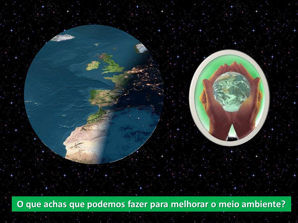 Temos de deixar de poluir, Não deitar lixo pró chão, Não deitar lixo no mar.