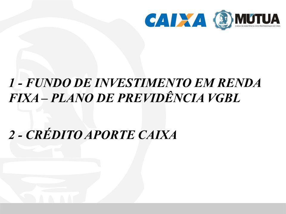 1 - FUNDO DE INVESTIMENTO EM RENDA FIXA – PLANO DE PREVIDÊNCIA VGBL 2 - CRÉDITO APORTE CAIXA
