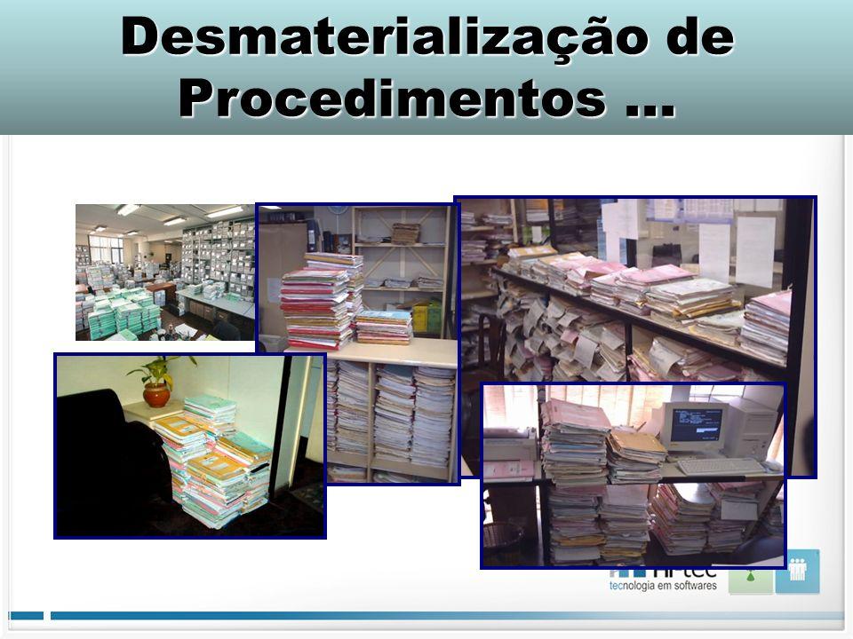 DESMATERIALIZAÇÃO DE PROCEDIMENTOS... Desmaterialização de Procedimentos...