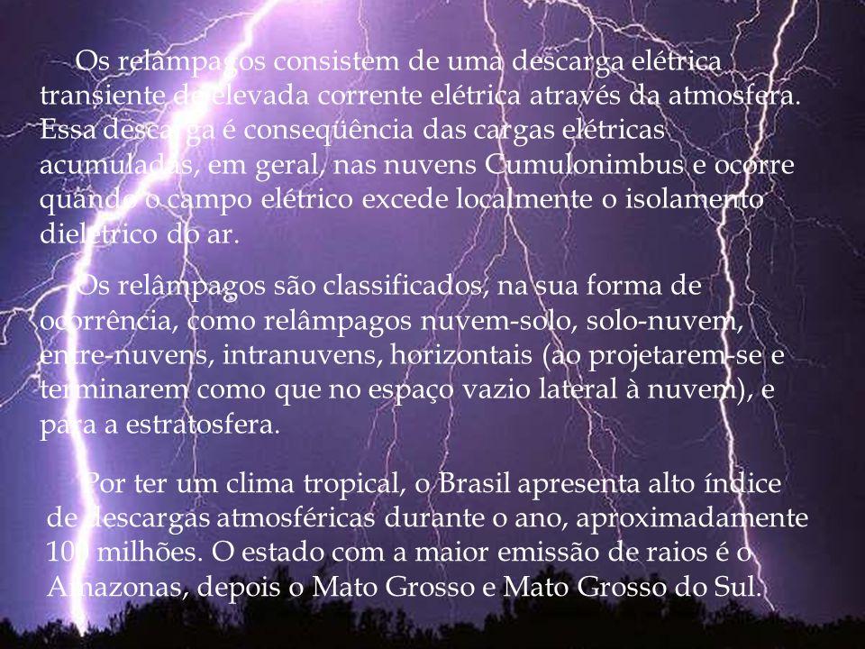 Por ter um clima tropical, o Brasil apresenta alto índice de descargas atmosféricas durante o ano, aproximadamente 100 milhões. O estado com a maior e