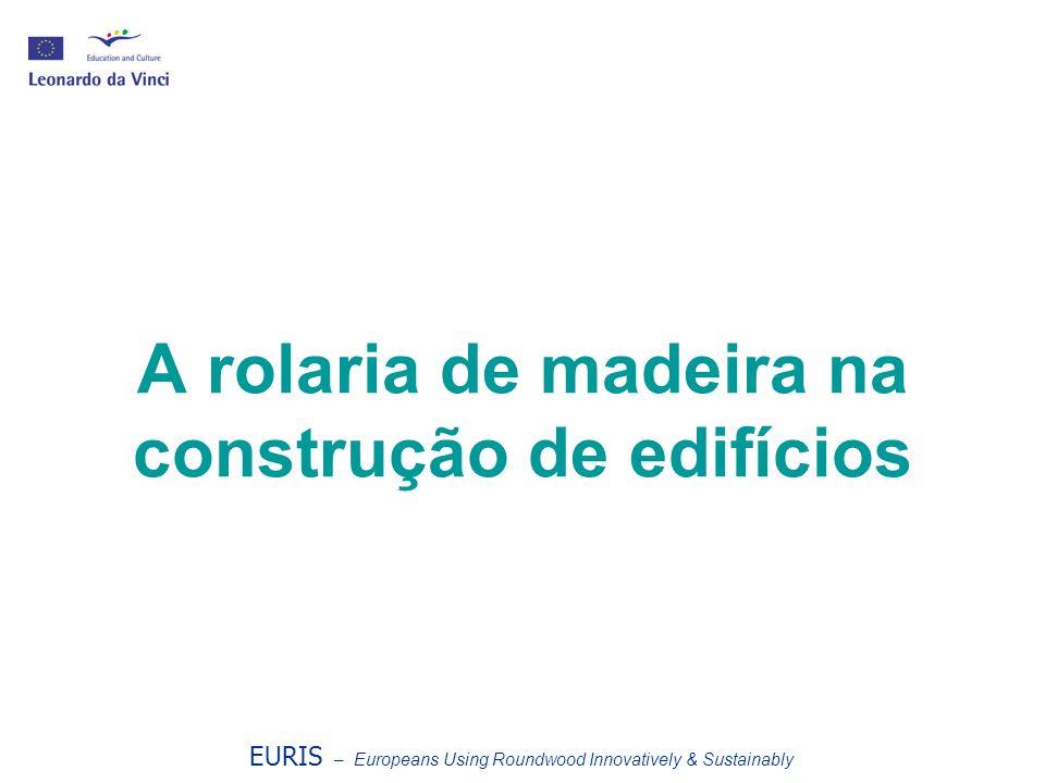 Objectivos da aula Os alunos deverão: Compreender os princípios do EURIS; Apreender as bases de algumas utilizações de rolaria na construção de edifícios; Compreender o conceito de localidade e de que modo este contribui para a sustentabilidade.