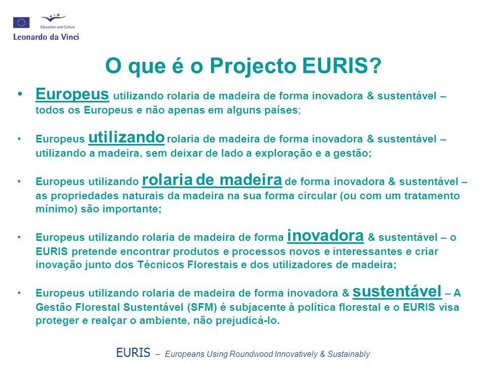 EURIS – Europeans Using Roundwood Innovatively & Sustainably Porquê utilizar rolaria em vez de madeira serrada.
