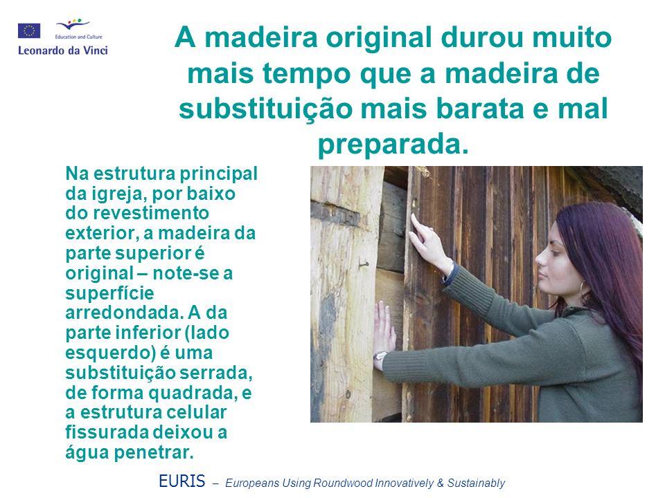 EURIS – Europeans Using Roundwood Innovatively & Sustainably As telhas originais tiveram de ser substituídas.