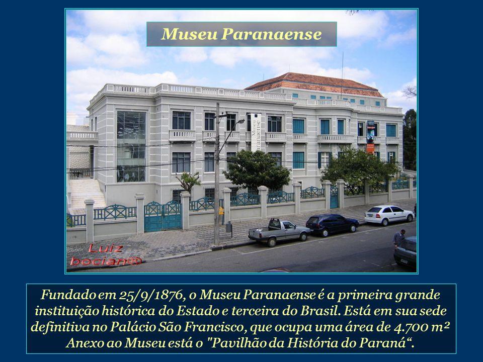 Fundado em 25/9/1876, o Museu Paranaense é a primeira grande instituição histórica do Estado e terceira do Brasil.