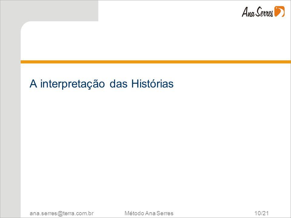 ana.serres@terra.com.br Método Ana Serres 10/21 A interpretação das Histórias
