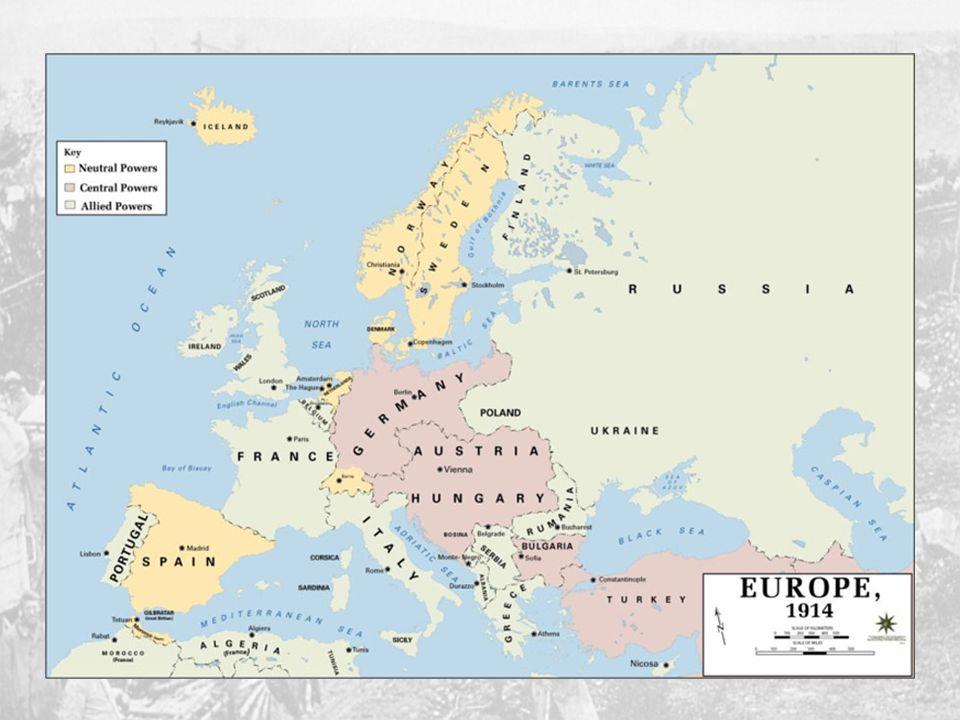 Corrida armamentista a paz armada A política de alianças Tríplice Aliança [Impérios centrais] - Alemanha - Império Austro-Húngaro - Itália (até 1915)