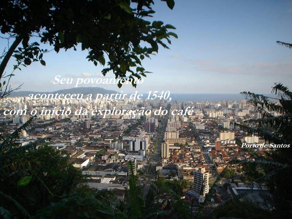 A ilha que se tornou uma grande cidade 417.518 habitantes (IBGE 2008) Estende-se por 231,6 km² Ilha de BarnabéPorto de Santos