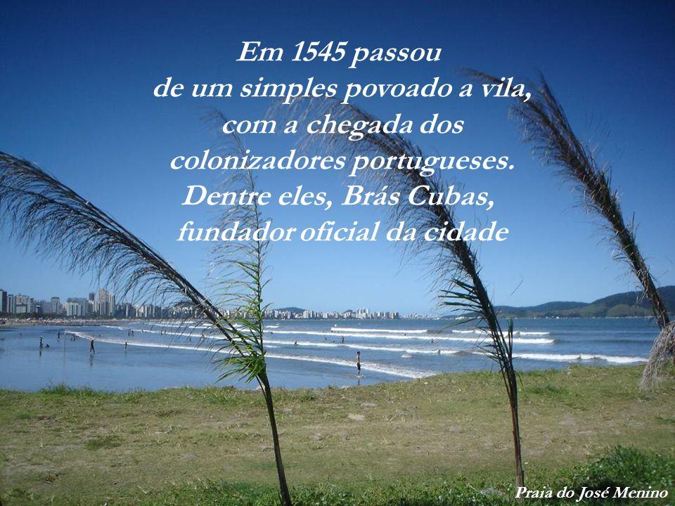 Seu povoamento aconteceu a partir de 1540, com o início da exploração do café Porto de Santos