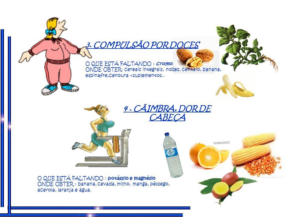 O QUE ESTÁ FALTANDO : ácidos graxos essenciais e vitaminas.