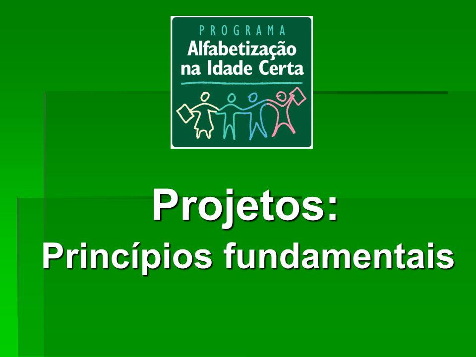 Projetos: Princípios fundamentais