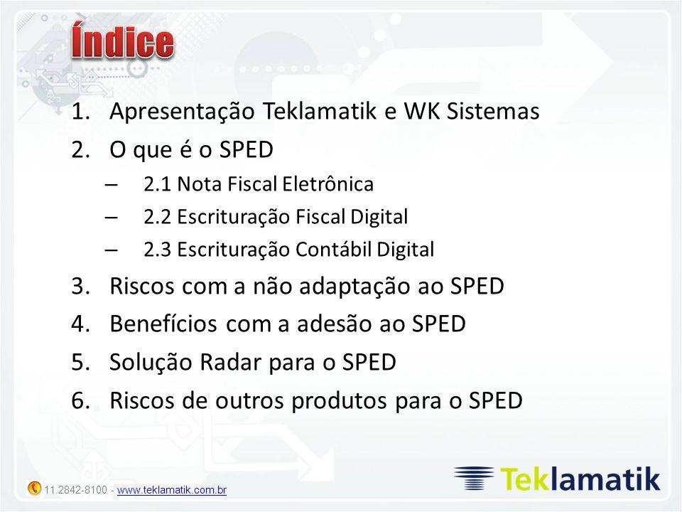 11.2842-8100 - www.teklamatik.com.brwww.teklamatik.com.br Desafios: Como tratar toda a complexidade de geração de NF-e, tratando envio, recusas denegação, cancelamentos e inutilização de forma automática.