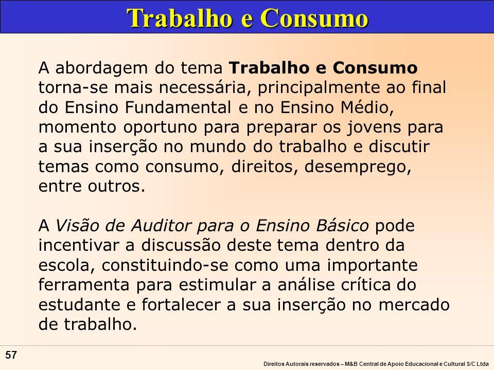 Direitos Autorais reservados – M&B Central de Apoio Educacional e Cultural S/C Ltda 56 A abordagem da Pluralidade Cultural é especialmente importante, pelo fato da sociedade brasileira ser formada por diversas etnias.