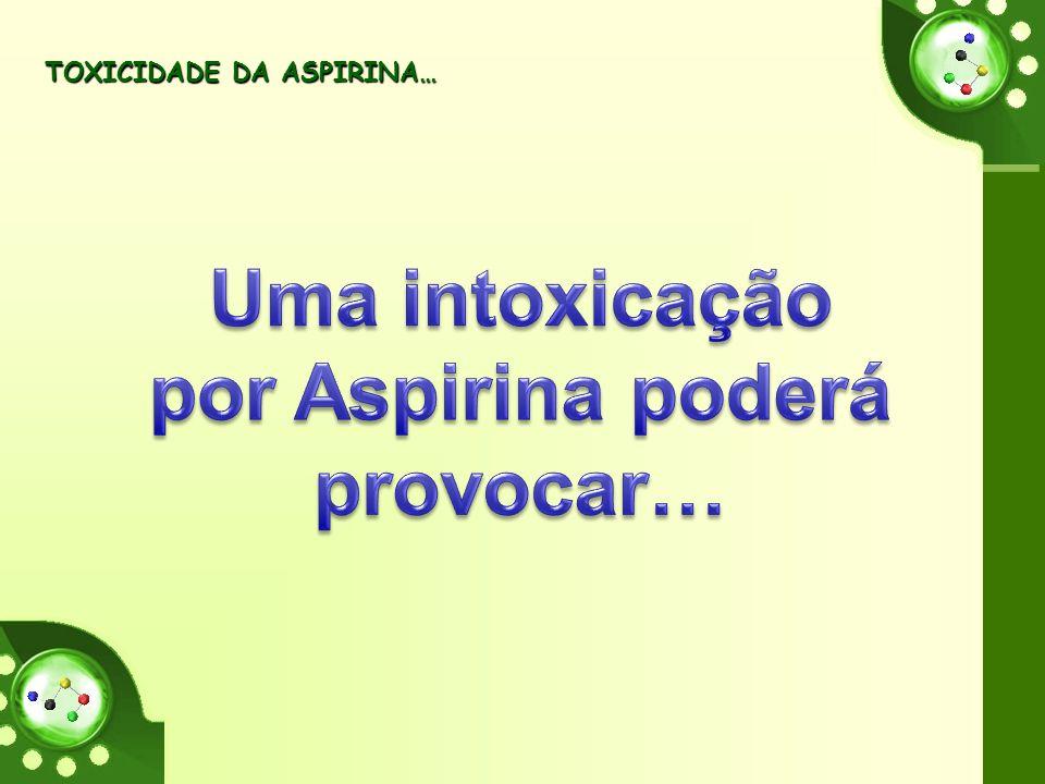TOXICIDADE DA ASPIRINA… TOXICIDADE DA ASPIRINA…