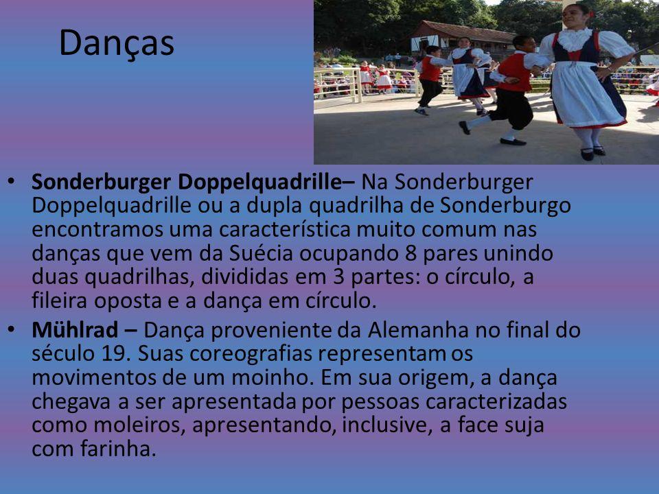 Danças Sonderburger Doppelquadrille– Na Sonderburger Doppelquadrille ou a dupla quadrilha de Sonderburgo encontramos uma característica muito comum na