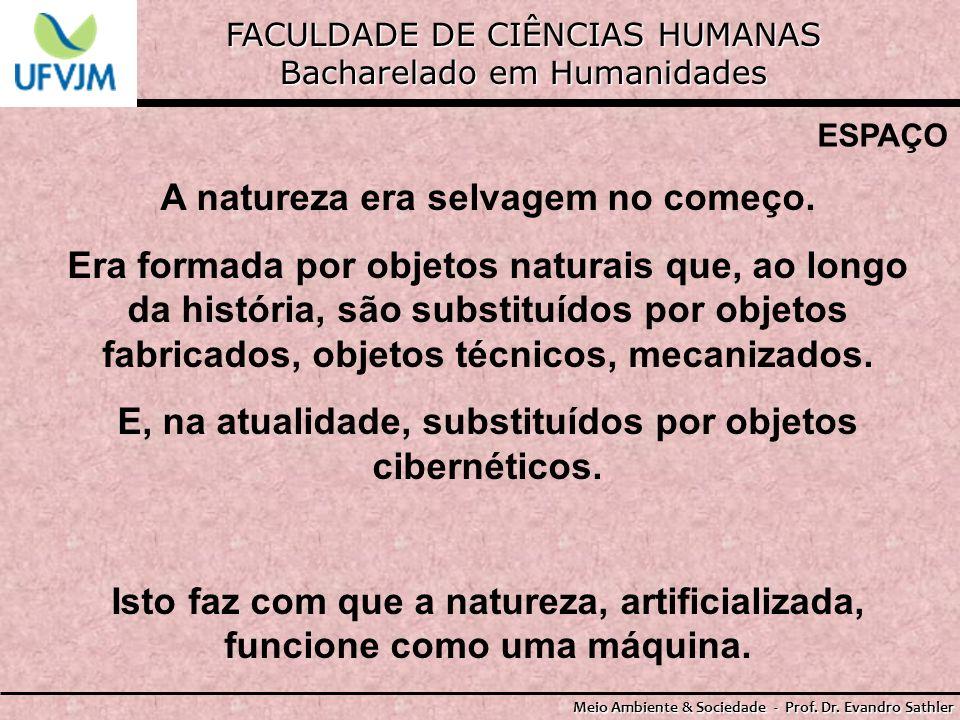 FACULDADE DE CIÊNCIAS HUMANAS Bacharelado em Humanidades Meio Ambiente & Sociedade - Prof. Dr. Evandro Sathler ESPAÇO A natureza era selvagem no começ