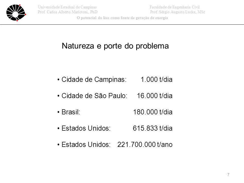 18 Opções de ação Universidade Estadual de Campinas Faculdade de Engenharia Civil Prof.