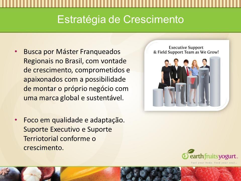 Estratégia de Crescimento Busca por Máster Franqueados Regionais no Brasil, com vontade de crescimento, comprometidos e apaixonados com a possibilidade de montar o próprio negócio com uma marca global e sustentável.