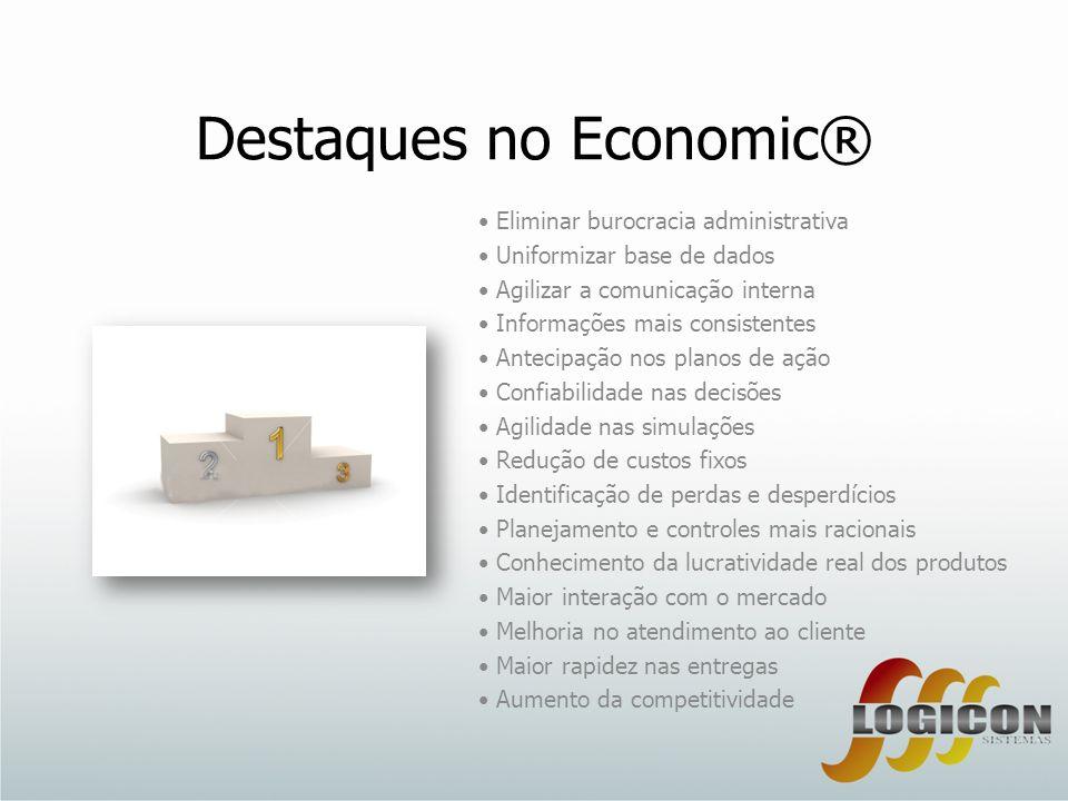 Destaques no Economic® Eliminar burocracia administrativa Uniformizar base de dados Agilizar a comunicação interna Informações mais consistentes Antec