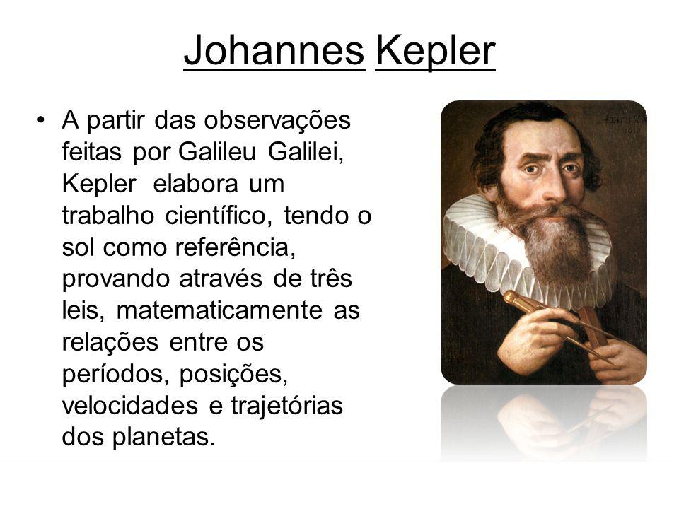 FÍSICA-Tomás Gravitação Universal Johannes Kepler A partir das observações feitas por Galileu Galilei, Kepler elabora um trabalho científico, tendo o