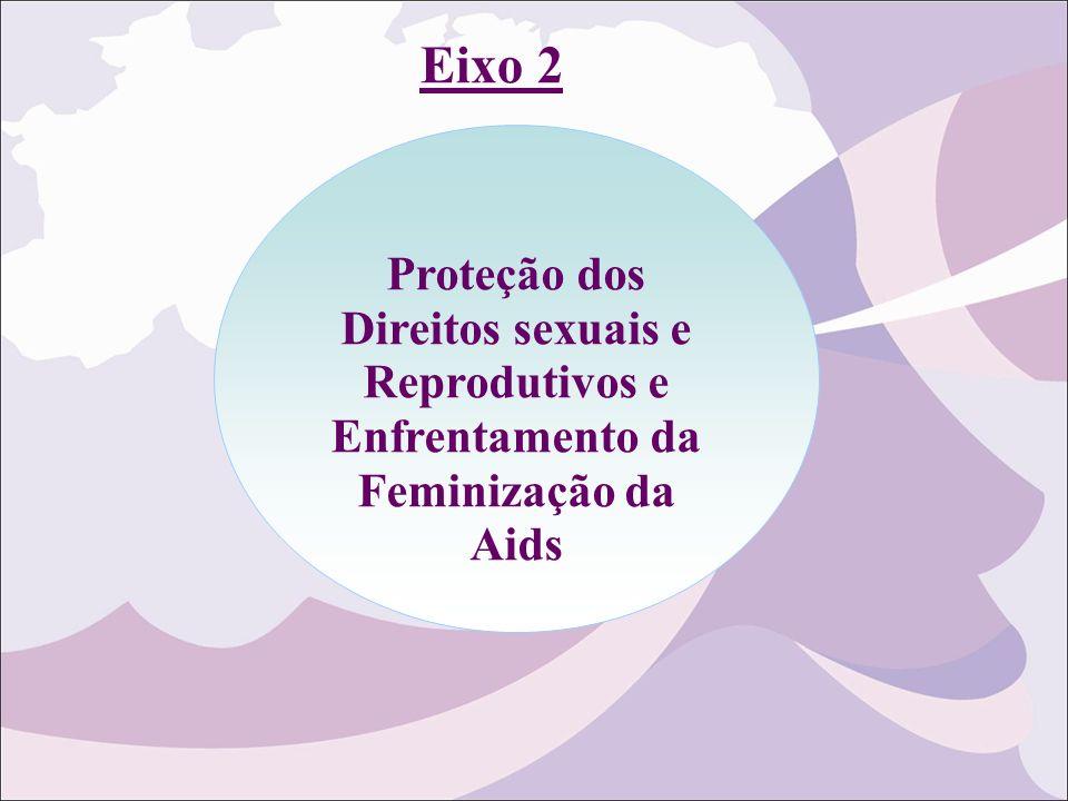 Eixo 2 Proteção dos Direitos sexuais e Reprodutivos e Enfrentamento da Feminização da Aids