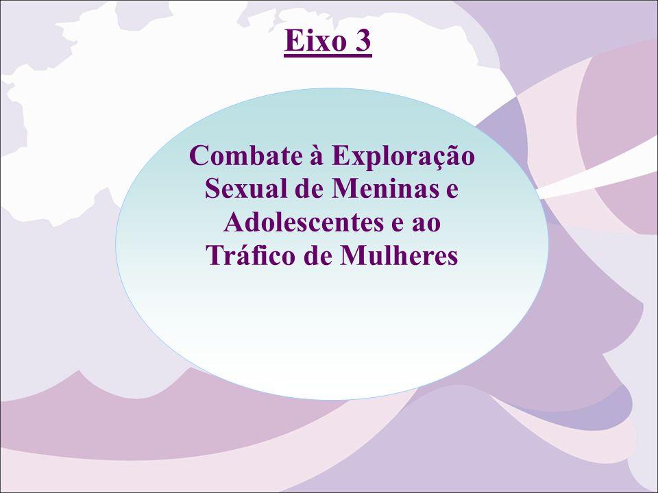 Eixo 3 Combate à Exploração Sexual de Meninas e Adolescentes e ao Tráfico de Mulheres