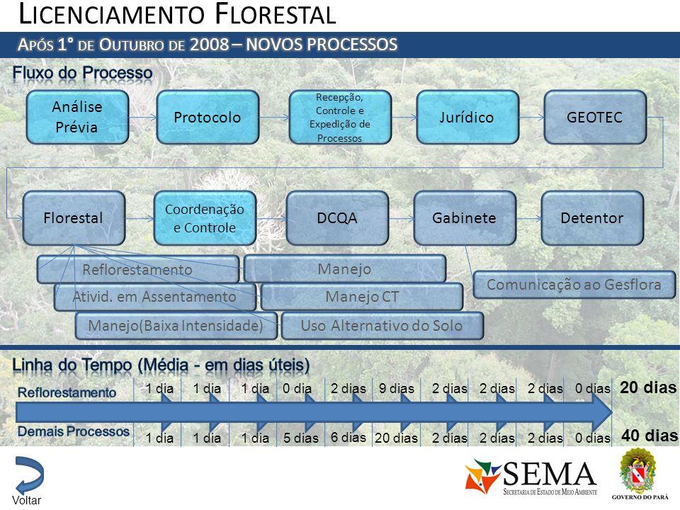 Análise Prévia Protocolo Recepção, Controle e Expedição de Processos JurídicoGEOTEC Florestal Coordenação e Controle DCQAGabineteDetentor Ativid. em A
