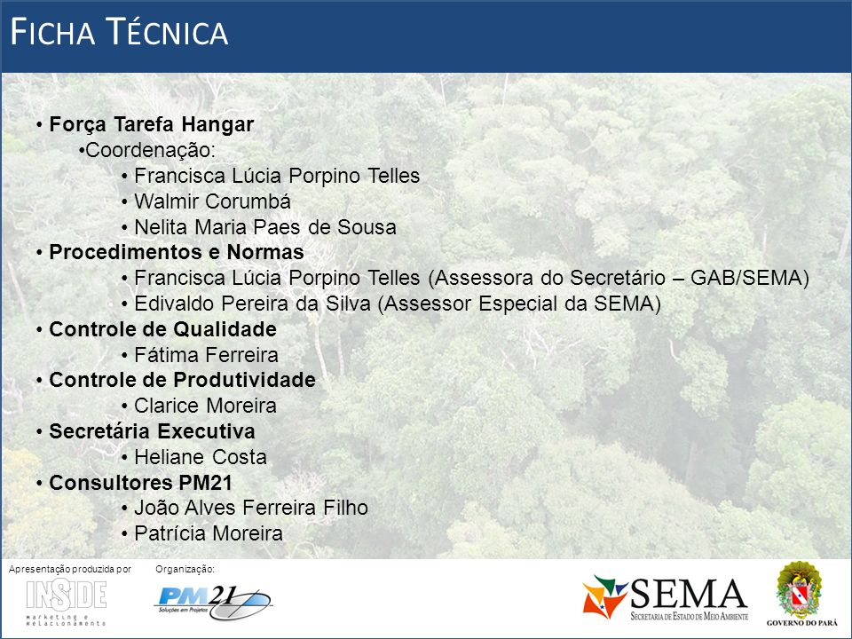 LICENCIAMENTO AMBIENTAL PARA FINS DE REFLORESTAMENTO (Cont.)...