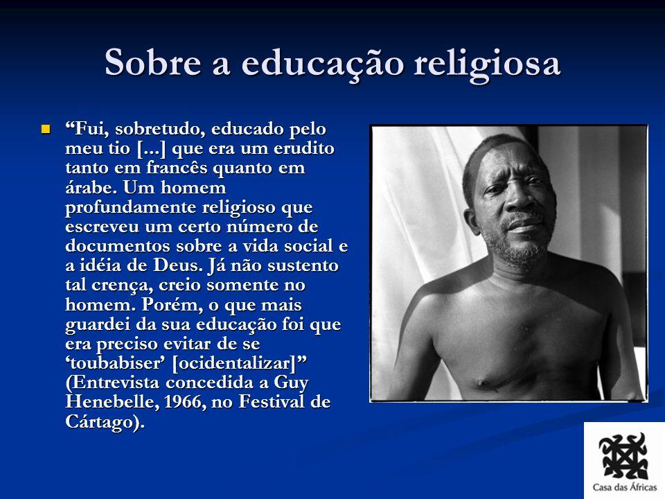 Sembène: a escola da vida 1935 (aos 12 anos), falece o tio Diop, fica mais um ano em Marsassoum.